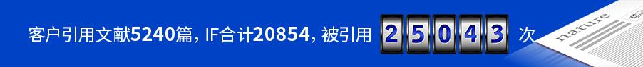 客户引用文献5240篇,IF合计20854,被引用25043次