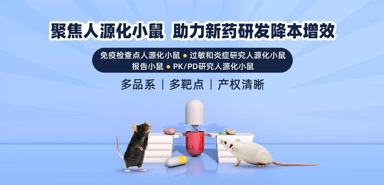 聚焦创新性人源化小鼠模型 助力新药研发降本增效 多品系 多靶点 产权清晰 供应无忧