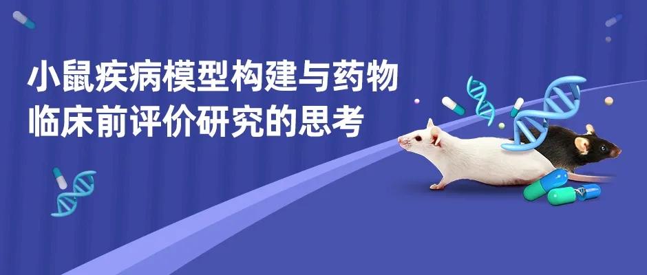小鼠疾病模型构建与药物临床前评价研究的思考