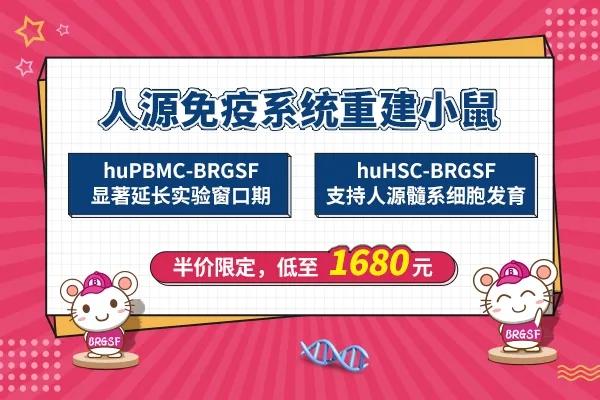 huPBMC-BRGSF小鼠半价限定,仅需1680元 | 赛业生物