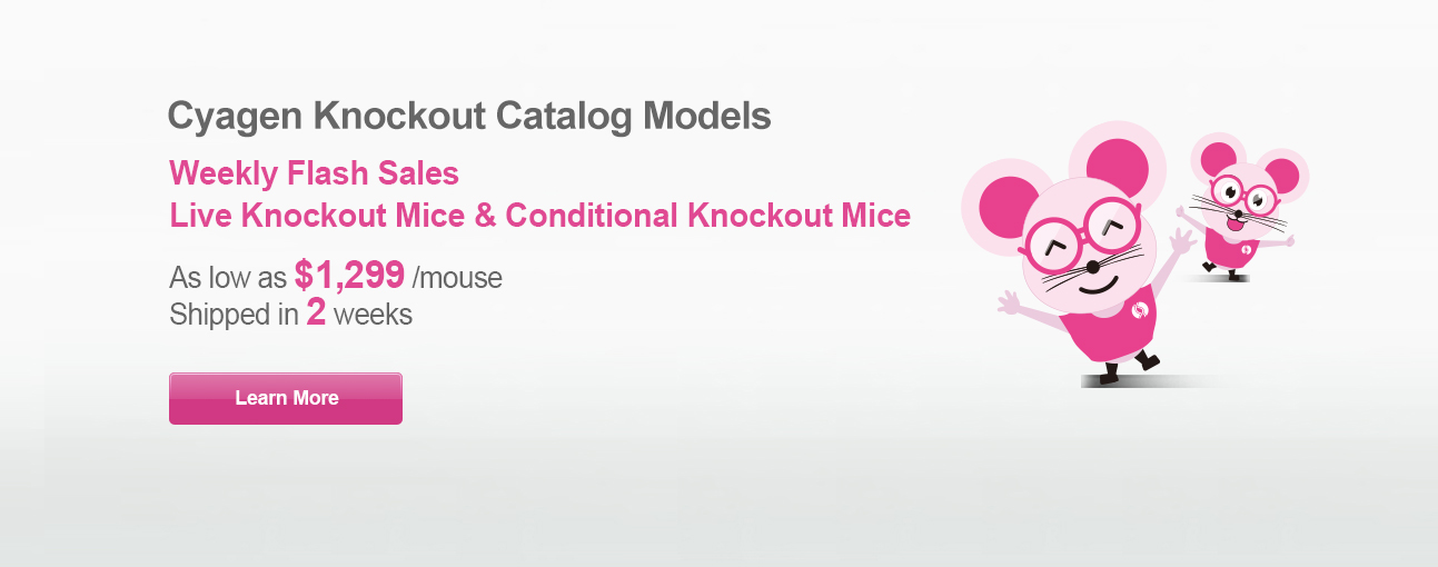 Live KO/cKO Mice, Shipped in 2 Weeks, only $1,299